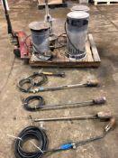 (4) Propane Heaters, (5) Torches Weed Burners & (1) Branding Iron