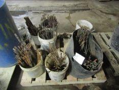 (7) Buckets of Loop Ties Symons Steel Ply Forms