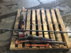 Assorted Air Hammer, Hoses, Bits, Adapters