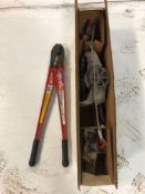 (1) NEW Bolt Cutter & (1) NEW Cable Come Along