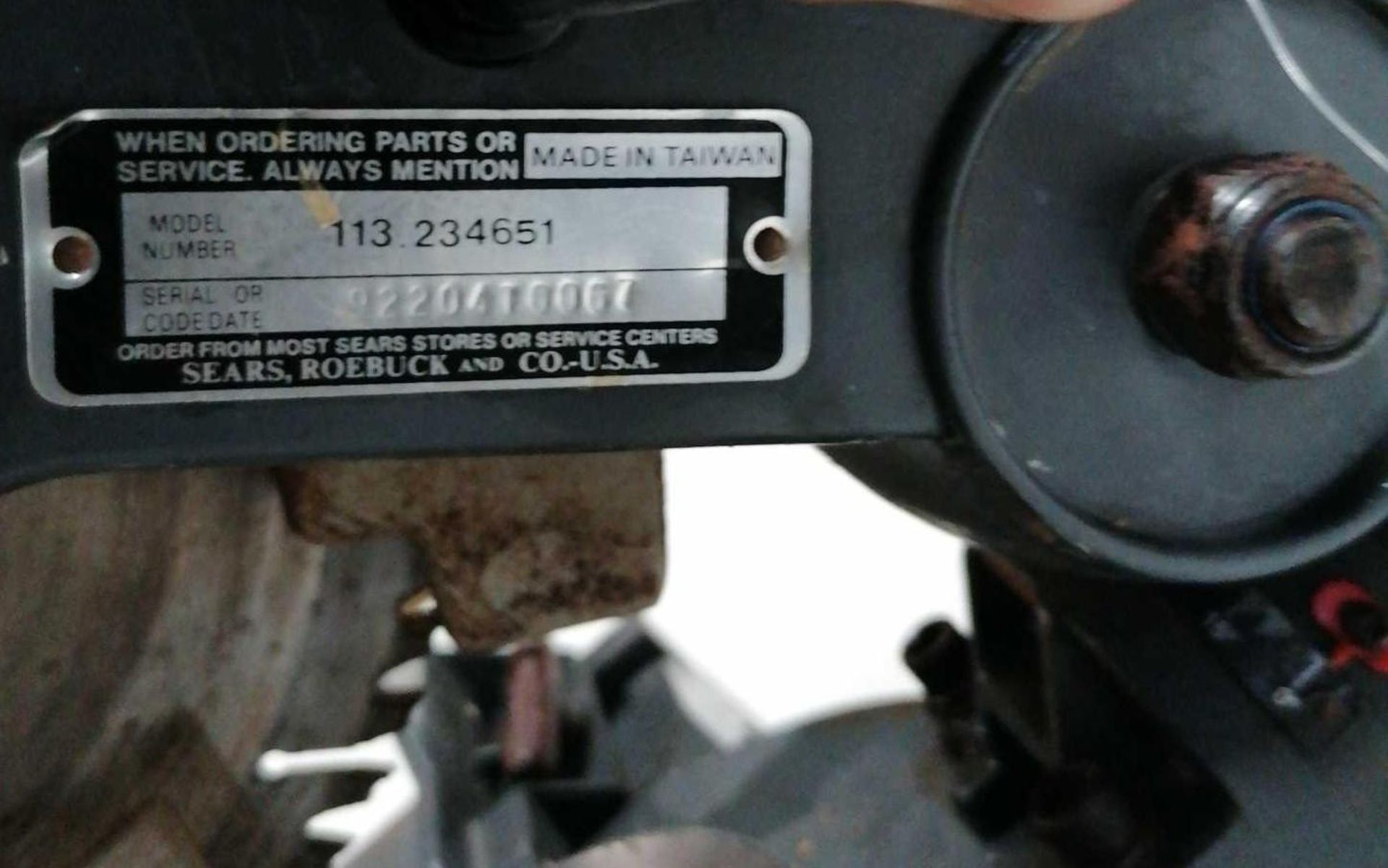 "Lot 15 - Sear 10"" Compound Miter Saw"