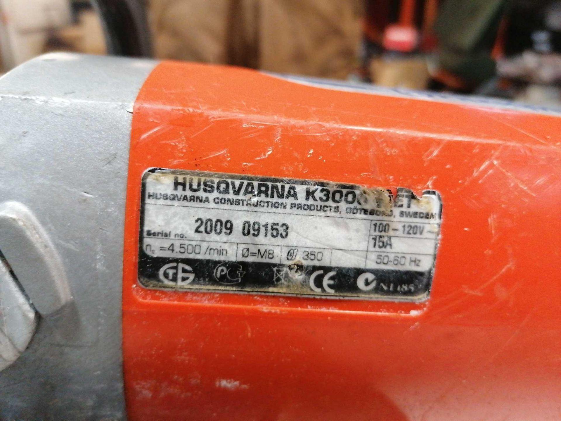 Lot 11 - 2009 Husqvarna K3000Concrete Saw