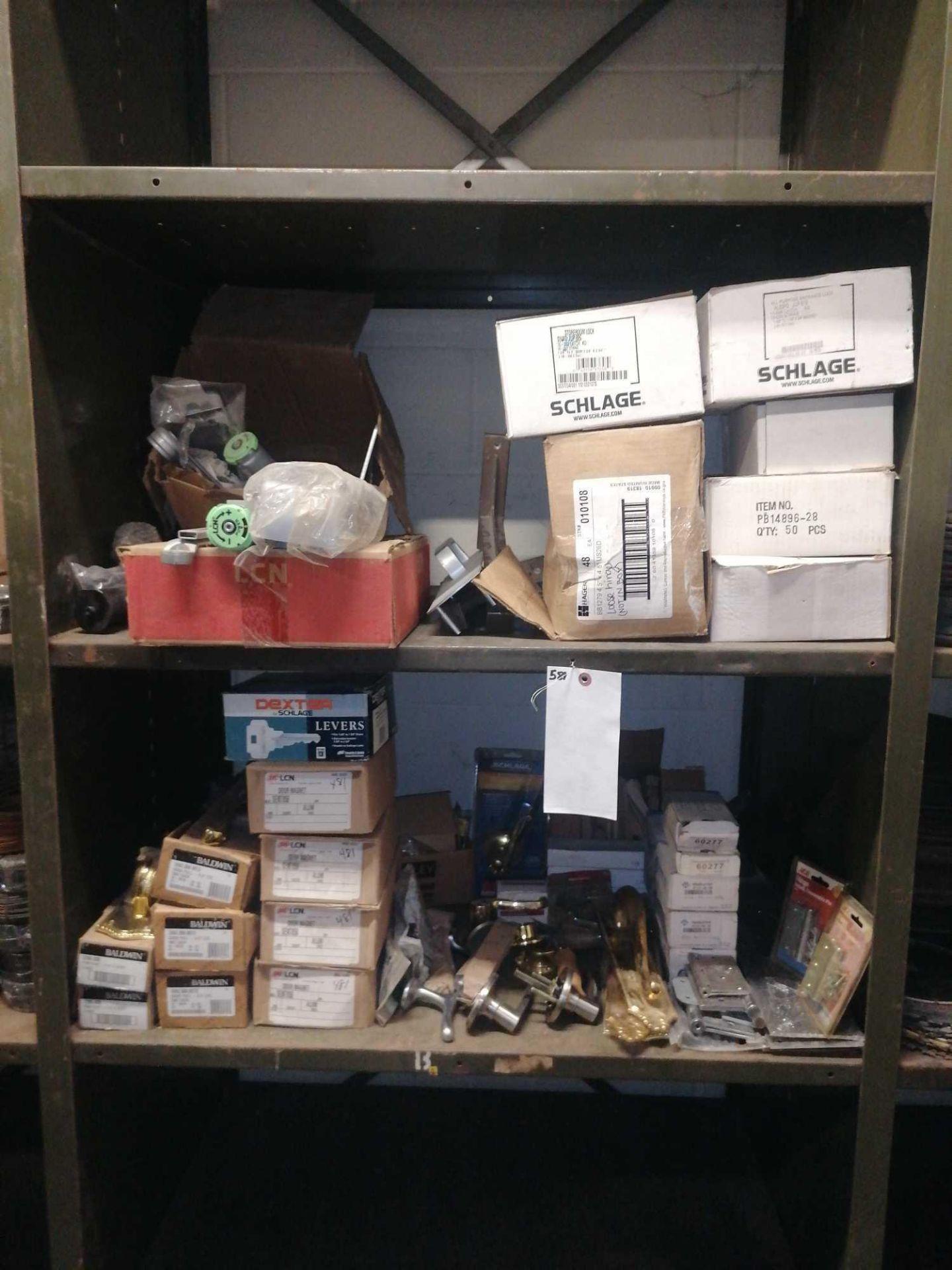 Lot 557 - Shelves of Door Locks & Door Magnets
