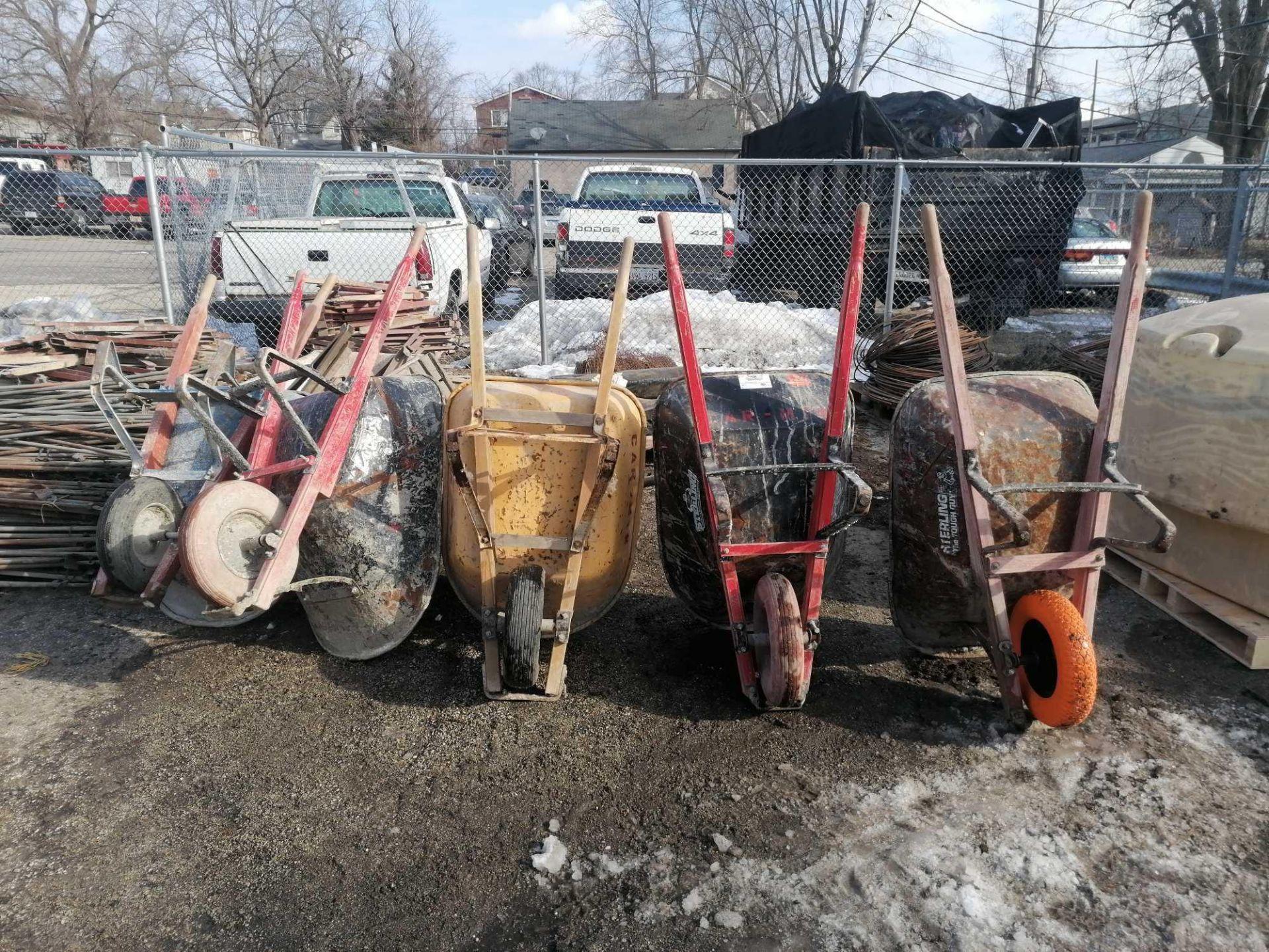 Lot 63 - (5) Wheelbarrows