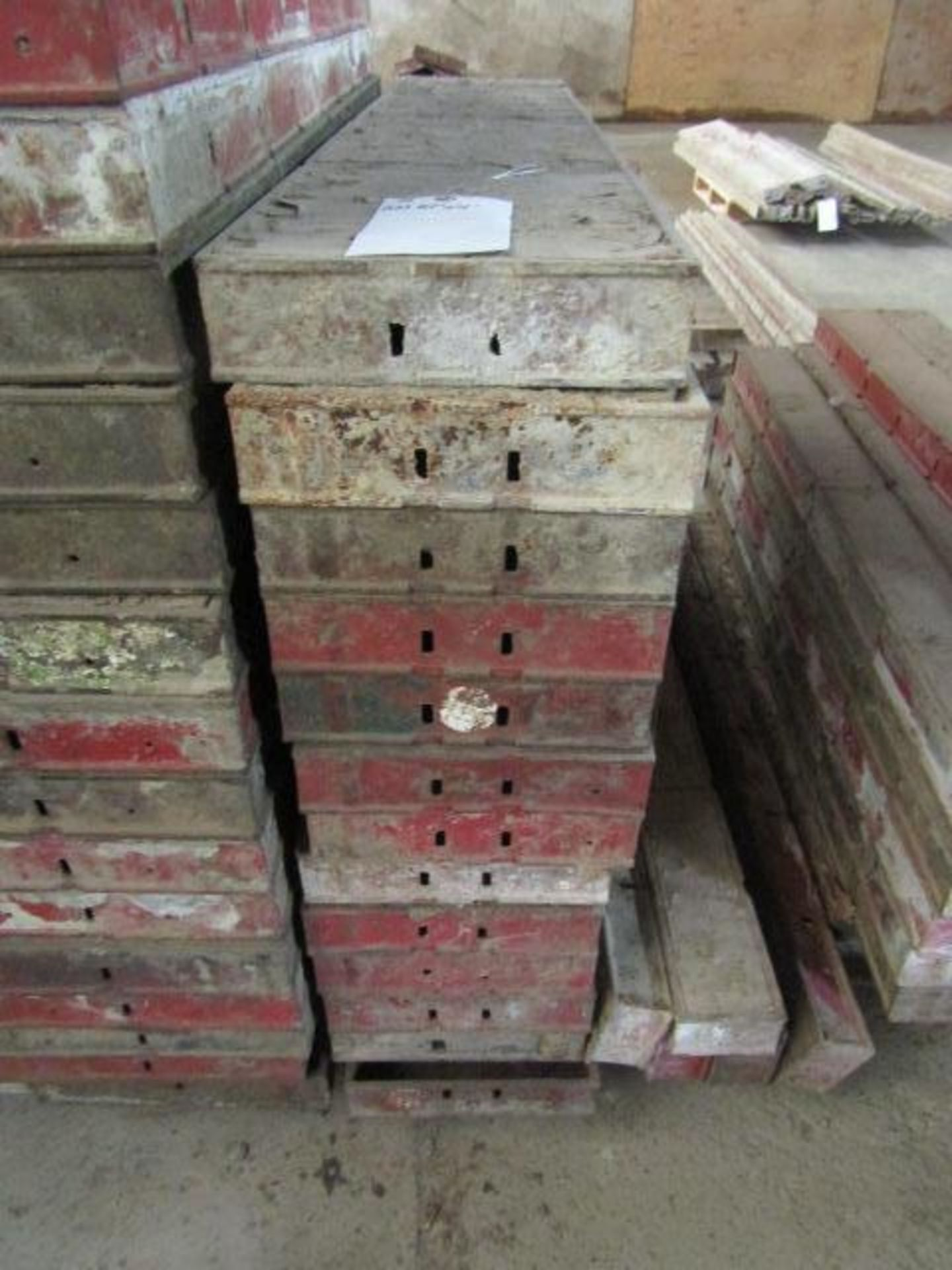 """Lot 229 - (13) 10"""" x 4' Symons Steel Ply Forms"""