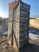 """(15) 36"""" x 8' Western Aluminum Concrete Forms, Smooth 6-12 Hole Pattern with Attached Hardware,"""
