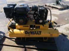 DEWALT KU-2 Gas Powered Air Compressor, Model D55270, Serial #07828, Honda GX160 5.5 Motor.