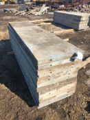 """(14) 24"""" x 8' Western Aluminum Concrete Forms, Smooth 6-12 Hole Pattern, Located in Naperville, IL"""