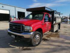 2003 Ford F-450 XL Super Duty Flatbed Truck, VIN # 1FDXF46P34EB87876, 191869 Miles, Dually Truck
