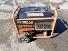 GENERAC WheelHouse GP3250 Generator, Model 095821, Serial #9923395B. Located in Naperville, IL.