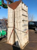 """(16) 36"""" x 8' Western Aluminum Concrete Forms, Smooth 6-12 Hole Pattern with Attached Hardware,"""