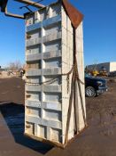 """(14) 36"""" x 8' Western Aluminum Concrete Forms, Smooth 6-12 Hole Pattern with Attached Hardware,"""