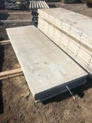 """(4) 34"""" x 8' Western Aluminum Concrete Forms, Smooth 6-12 Hole Pattern, Located in Naperville, IL"""
