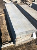 """(10) 22"""" x 8' Western Aluminum Concrete Forms, Smooth 6-12 Hole Pattern, Located in Naperville, IL"""