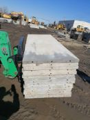 """(15) 36"""" x 8' Western Aluminum Concrete Forms, Smooth 6-12 Hole Pattern / Attached Hardware, Located"""