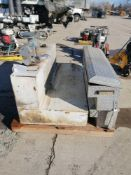 (1) Fuel Tank & (2) Truck Toolboxes, GPI Fuel Transfer Pump Model M-3025. Located in Naperville,