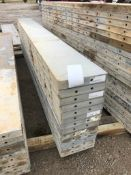 """(13) 12"""" x 10' Precise Aluminum Concrete Forms, Smooth 8"""" Hole Pattern with Attached Hardware."""