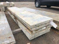 """(6) 22"""" x 10' Precise Aluminum Concrete Forms, Smooth 8"""" Hole Pattern with Attached Hardware."""