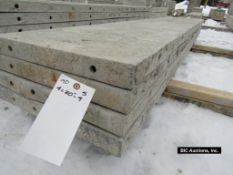 """(4) 20"""" x 9' Durand Aluminum Concrete Forms, Smooth 8"""" Hole Pattern, Located in Waldo, WI"""