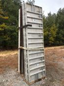 """(12) 32"""" x 10' Precise Aluminum Concrete Forms, Smooth 8"""" Hole Pattern with Attached Hardware,"""