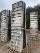 """(8) 32"""" x 10' Precise Aluminum Concrete Forms, Smooth 8"""" Hole Pattern with Attached Hardware,"""