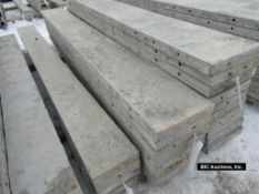 """(7) 12"""" x 9' Durand Aluminum Concrete Forms, Smooth 8"""" Hole Pattern, Located in Waldo, WI"""