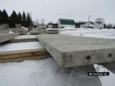"""(1) 28"""" x 9' Durand Aluminum Concrete Forms, Smooth 8"""" Hole Pattern with attached Hardware,"""