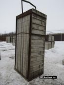 """(20) 32"""" X 9' Durand Aluminum Concrete Forms, Smooth 8"""" Hole Pattern with attached Hardware"""