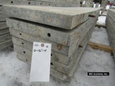 """(6) 16"""" x 9' Durand Aluminum Concrete Forms, Smooth 8"""" Hole Pattern, Located in Waldo, WI"""