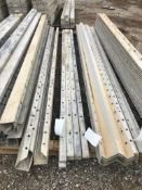 """(6) 1"""" x 10' & (3) 1/2"""" x 10' Precise Aluminum Concrete Forms, Smooth 8"""" Hole Pattern. Located"""