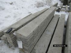 """(10) 10"""" x 9' Durand Aluminum Concrete Forms, Smooth 8"""" Hole Pattern, Located in Waldo, WI"""