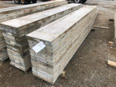 """(14) 16"""" x 10' Precise Aluminum Concrete Forms, Smooth 8"""" Hole Pattern with Attached Hardware."""