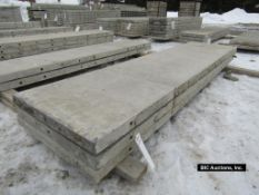 """(3) 24"""" x 8' Durand Aluminum Concrete Forms, Smooth 8"""" Hole Pattern with attached Hardware,"""