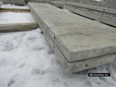 """(2) 24"""" x 9' Durand Aluminum Concrete Forms, Smooth 8"""" Hole Pattern with attached Hardware,"""