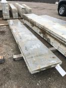 """(2) 20"""" x 10' Precise Aluminum Concrete Forms, Smooth 8"""" Hole Pattern with Attached Hardware."""
