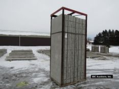 """(20) 32"""" x 8' Durand Aluminum Concrete Forms, Smooth 8"""" Hole Pattern with attached Hardware"""