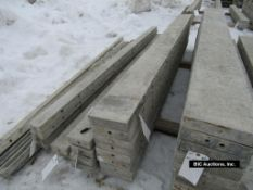 """(8) 8"""" x 9' Durand Aluminum Concrete Forms, Smooth 8"""" Hole Pattern, Located in Waldo, WI"""