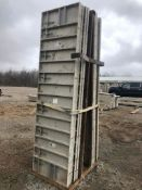 """(13) 32"""" x 10' Precise Aluminum Concrete Forms, Smooth 8"""" Hole Pattern with Attached Hardware,"""