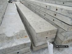"""(4) 9"""" x 9' Durand Aluminum Concrete Forms, Smooth 8"""" Hole Pattern, Located in Waldo, WI"""