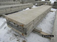 """(4) 18"""" x 8' Durand Aluminum Concrete Forms, Smooth 8"""" Hole Pattern, Located in Waldo, WI"""