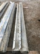 """(8) 6"""" x 4"""" x 10' ISC Full Precise Aluminum Concrete Forms full, Smooth 8"""" Hole Pattern. Located"""