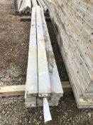 """(13) 4"""" x 10' Precise Aluminum Concrete Forms, Smooth 8"""" Hole Pattern. Located in Waldo, WI."""