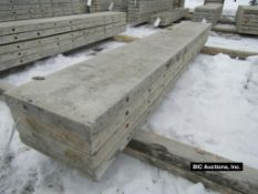 """(4) 14"""" x 8' Durand Aluminum Concrete Forms, Smooth 8"""" Hole Pattern, Located in Waldo, WI"""