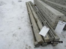 """(8) 2"""" x 9' Durand Aluminum Concrete Forms, Smooth 8"""" Hole Pattern, Located in Waldo, WI"""