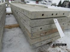 """(6) 18"""" x 9' Durand Aluminum Concrete Forms, Smooth 8"""" Hole Pattern, Located in Waldo, WI"""
