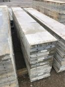"""(15) 16"""" x 10' Precise Aluminum Concrete Forms, Smooth 8"""" Hole Pattern with Attached Hardware."""