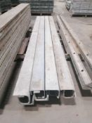 """(8) 4"""" x 4"""" x 8' ISC Western Aluminum Concrete Forms, Smooth 6-12 Hole Pattern. Located at 119"""