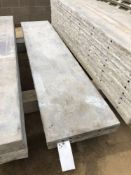 """(2) 20"""" x 8' Wall-Ties Aluminum Concrete Forms, Smooth 6-12 Hole Pattern. Located at 6180 W 10th St,"""