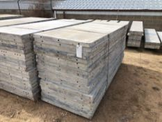 """(20) 36"""" x 8' Wall-Ties Aluminum Concrete Forms, Smooth 6-12 Hole Pattern, reconditioned by Wall-"""