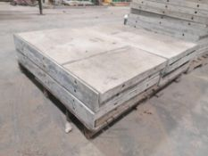 """(8) 36"""" x 2' with Brick edge Western Aluminum Concrete Forms, Smooth 6-12 Hole Pattern. Located at"""